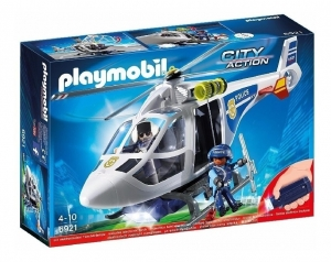 PLAYMOBIL ACTION HELICOPTERO DE POLICIA C/LUCES LED COD 6921