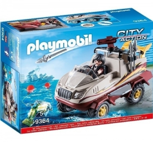 PLAYMOBIL CITY ACTION COCHE ANFIBIO COD 9364