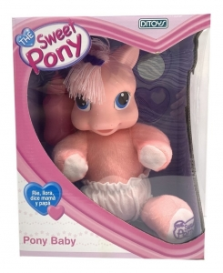 MY SWEET PONY BABY PELUCHE CON SONIDO RIE LLORA COD 1328