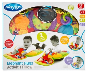 PLAYGRO GIMNASIO ELEPHANT HUGS ACTIVITY PILLOW COD 184570